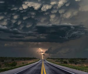 background, clouds, and road image