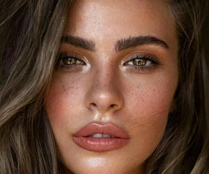 beauty, brunette, and makeup image