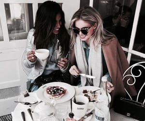 girl, food, and friendship image