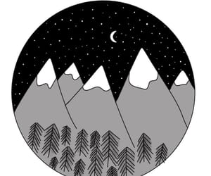 background, forest, and moon image