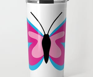 butterfly, office, and travel mug image