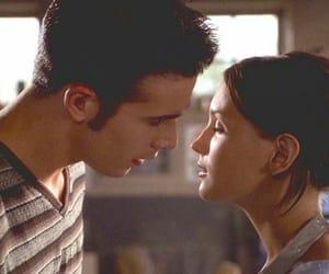 couple, kiss, and 90s image