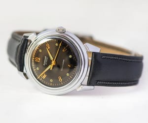 black, mid century, and father gift watch image