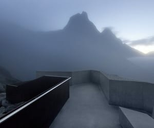 cloudy, mountain, and dawn image