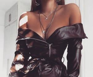 fashion, dress, and leather image