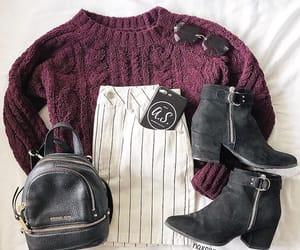 bag, black boots, and fashion image