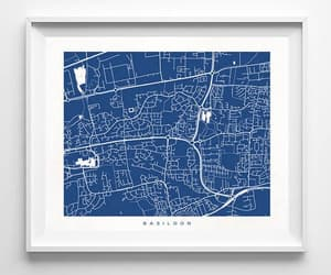 etsy, map poster, and dorm wall decor image