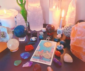 aesthetic, candles, and crystal image