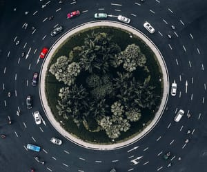 aerial photography, aerial view, and roads image