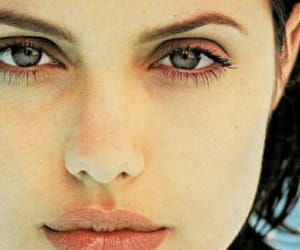 angelina, beauty, and green eyes image