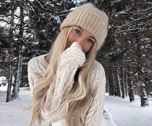 winter, beauty, and girl image