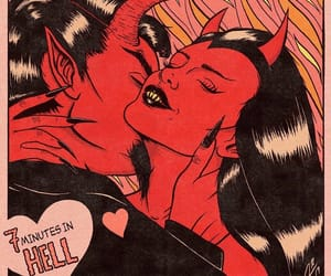 Devil and red image