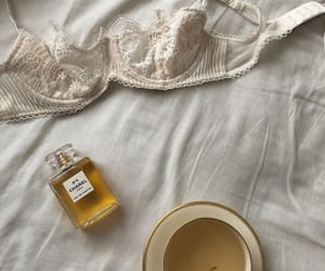chanel, coffee, and lingerie image