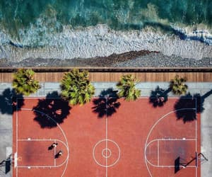 aerial photography, Basketball, and aerial view image