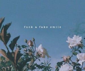 fake smile, flowers, and ariana image