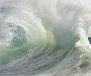 waves, ocean, and water image