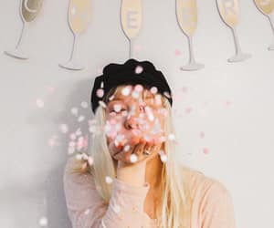 cheers, confetti, and new year image