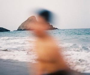 beach, blurry, and boy image