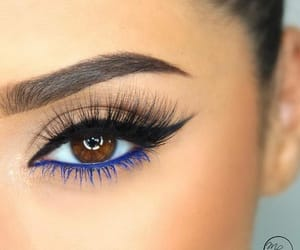 makeup, eyeliner, and lashes image