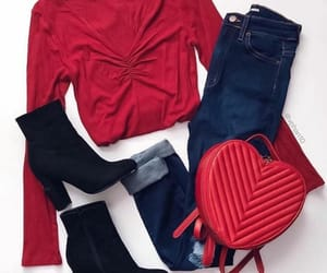boots, heart, and outfit image