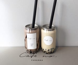 aesthetic, boba, and brown image