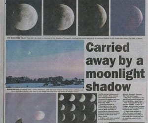 moon, newspaper, and grunge image