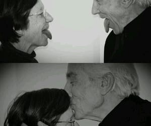black and white, Relationship, and old couple image