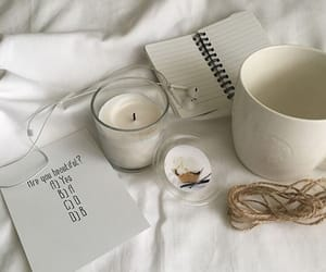 aesthetic, candle, and white image