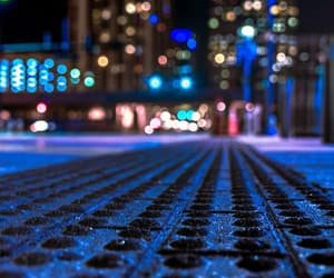 blue, bokeh, and city image