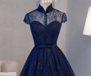 high neck prom dresses, navy blue prom dresses, and open back prom dresses image