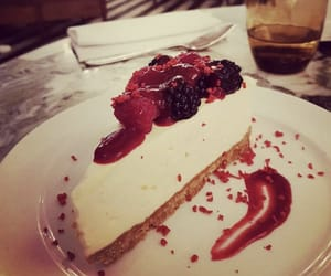 cheesecake, dessert, and dinner image