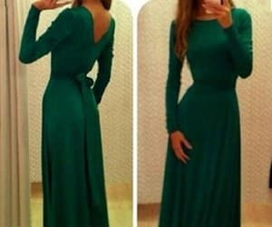 green prom dress and long sleeves prom dress image
