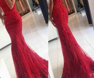 lace evening dresses, lace red evening dresses, and evening dresses red image