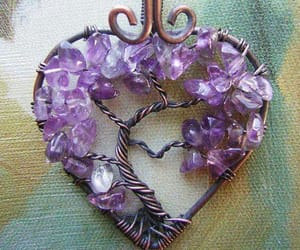 amethyst, tree, and heart image
