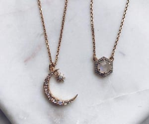necklace, accessories, and moon image