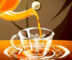 anime, gif, and tea image