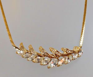 etsy, gold choker, and trifari necklace image