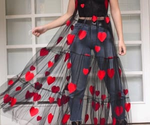dress, fashion, and hearts image