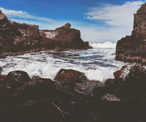 aesthetic, rocks, and beach image