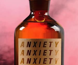 anxiety, art, and bottle image