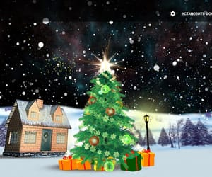 android, snowflakes, and christmas tree image