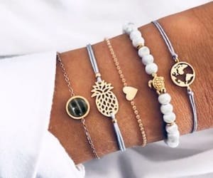 accessory, bracelets, and hand image