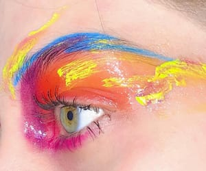 art, brow, and colours image