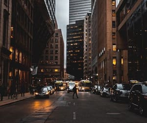 city, buildings, and new york image