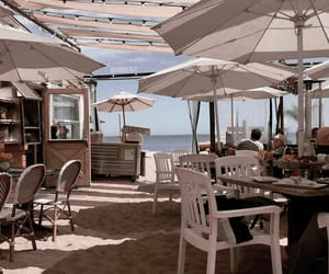 beach, quotes, and restaurant image