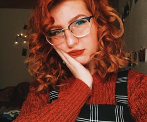 curls, girl, and glasses image