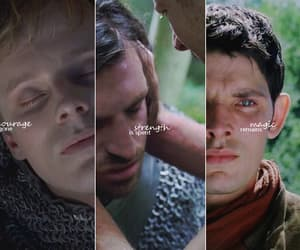 colin morgan, merlin, and gwaine image