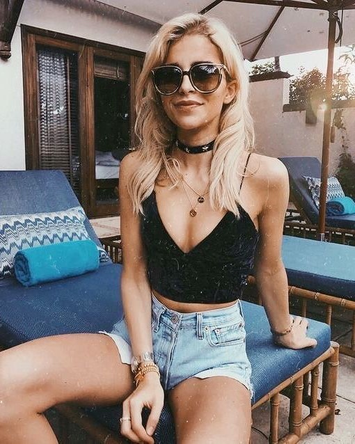 accessories, blonde girl, and blonde hair image