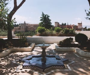 Alhambra, fountain, and view image