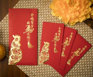chinese new year, red envelope, and ang pao image